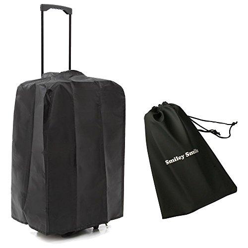 Smiley Smile(スマイリースマイル) 急な雨でも安心 ナイロン製スーツケース 用 カバー S / M / L ブラック