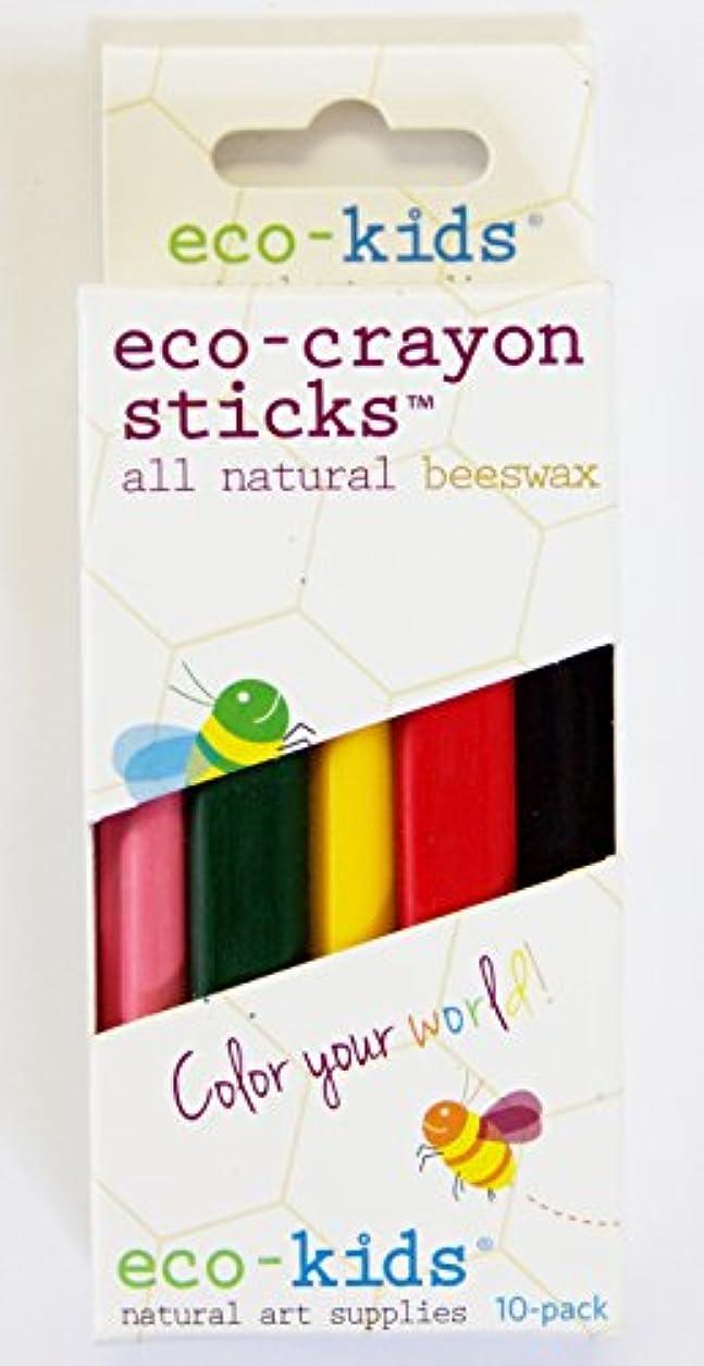 滑りやすいバンガロー望むeco-crayon sticks 10 pack