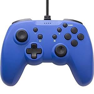 【連射ボタン搭載】 CYBER ・ ジャイロコントローラー ライト 有線タイプ ( SWITCH 用) ブルー - Switch