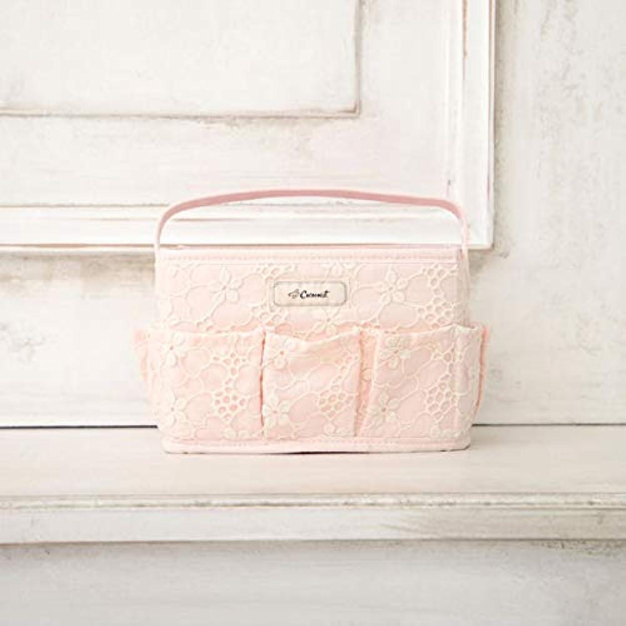 勤勉な特許キャップ[ コクーニスト ] Cocoonist フラワー柄コスメバスケットS ピンク