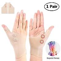Womdee Arthritis手袋、手首のトンネルのための優れた磁気通気性のゲルの手首の親指の支柱のサポート関節炎の関節の痛みを軽減する手袋、コンピュータタイピング、リウマチ、変形性関節症(1ペア)