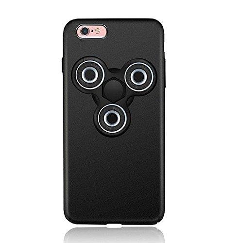Dmeru IPhone6s iPhone6 ハンドスピナー付き スマホンケース オシャレ フォーカス玩具  軽量 スリム 超薄型メッキ 360度保護 全面保護 ハード バック ケース アイホン 暇つぶし 独楽 集中力 玩具 耐久性 カバー スマホケース スマホカバー