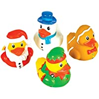One Dozen (12) Holiday Christmas Theme Rubber Ducks by RIN