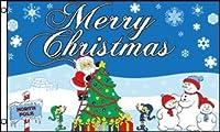 クリスマスフラッグ(NorthPole)旗★3x5ft (90x150cm)Merry Christmas