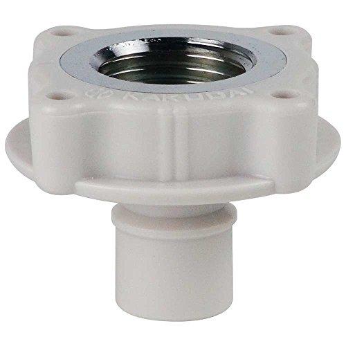 洗濯機用 取替簡単ニップル 呼13カップリング付き横水栓用 給水ホースをワンタッチ接続 樹脂製 7724