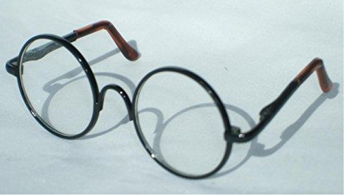 ブライス ドール や 1/3 ドール 用 レトロ 丸 メガネ 選べる カラー (ブラック)