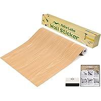 one's own  木目デザイン壁紙シール&万能スキージセット かんたん貼付シールタイプ 45cm×10m DIY壁紙シール (ライトブラウンR)