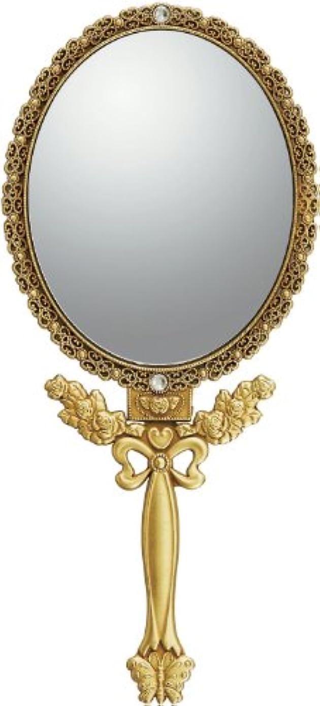 アノイ受け皿締めるユーパワー ミラー・鏡 アンティークゴールド Mサイズ