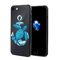 ニセキストア 海亀 アンカー 薄くて柔らかい保護携帯電話ケースカバー IPhone 7/8対応