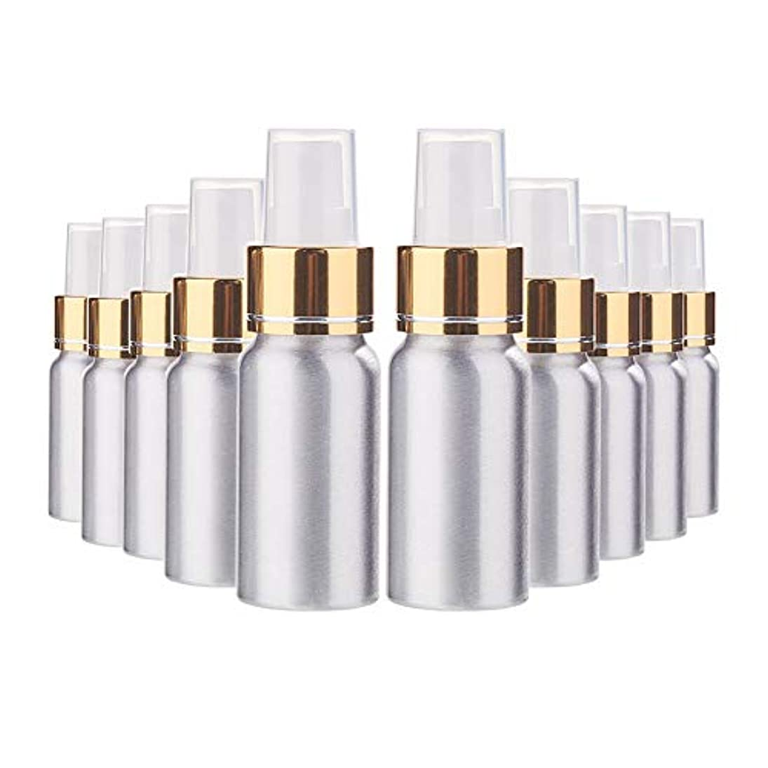 エキスパート悲観主義者火薬BENECREAT 10個セット30mlスプレーアルミボトル 空ボトル 極細のミスト 防錆 軽量 化粧品 香水 小分け 詰め替え