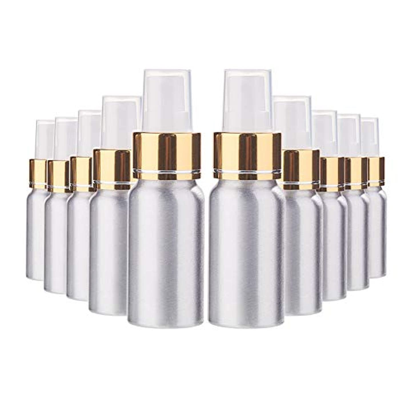 不屈第九すすり泣きBENECREAT 10個セット30mlスプレーアルミボトル 空ボトル 極細のミスト 防錆 軽量 化粧品 香水 小分け 詰め替え