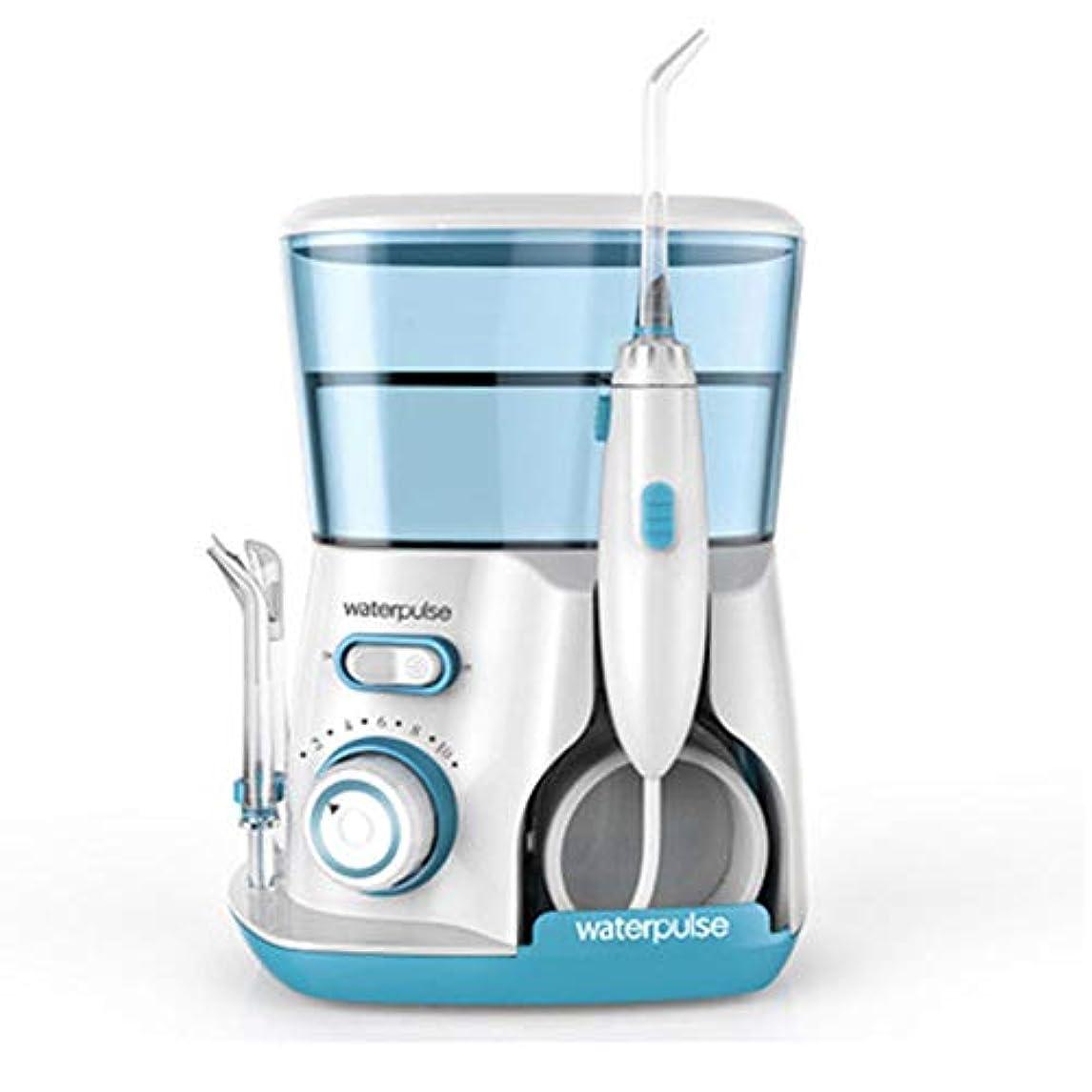 水の容量800mlの5つの多機能ヒントのカウンタートップ歯科口腔洗浄器でリークプルーフ電気静かな設計ホーム&トラベル (色 : Green)