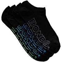 Bonds Men's Logo Light No Show Sport Socks (4 Pack)