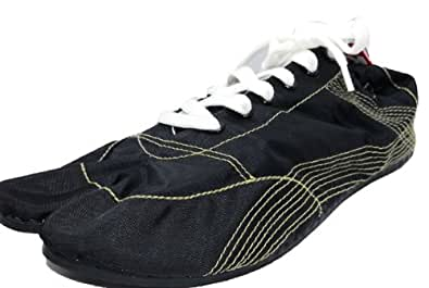 [無敵]MUTEKI 【ランニング足袋】伝統職人の匠技が創り出すランニングシューズ《008-muteki-黒》 (25.0)