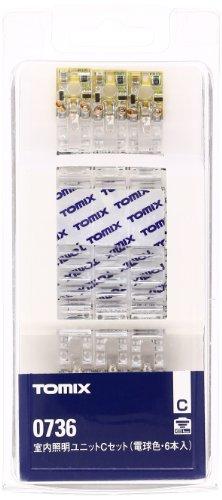 TOMIX Nゲージ 0736 室内照明ユニットC (電球色6本)