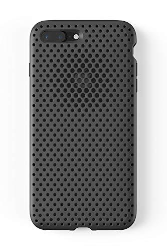 AndMesh iPhone 8 Plus ケース/iPhone 7 Plus メッシュケース Qi 充電 対応 耐衝撃 | ブラック 黒 AMMSC711...