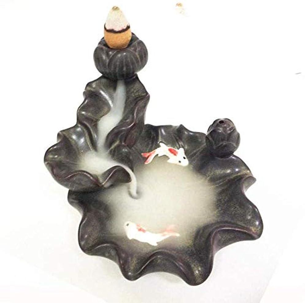 村絶え間ない反発するデコレーション逆流香バーナー10個の逆流香コーン付き逆流香コーンホルダーバーナー