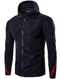 Sodossny-JP メンズ長袖パーカー紫外色縫い目を保護するための薄いジャケットコート春