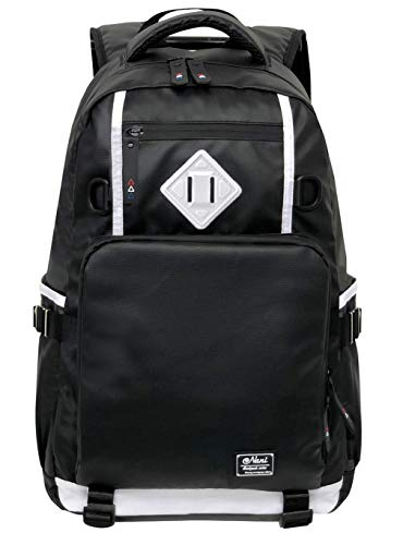 19bb7ae74084 [Nani] リュック 大容量 メンズ backpack 人気 高校生 通学 (ホワイトの画像