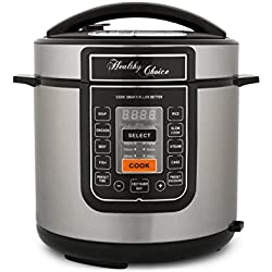 Healthy Choice 6L Pressure/Slow Cooker 1000W LED Display/Timer/Non Stick/Bake