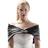 Alivila.Y Fashion Women's Satin Buckle Pleated Wrap Shrug Shawl