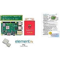 Raspberry Pi 3 Model B+ (ヒートシンク、独自保証1年付、セットアップ説明書)