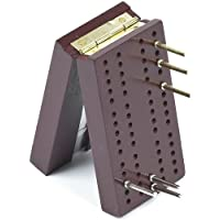 Travel Pocket Size Wooden Cribbage Board