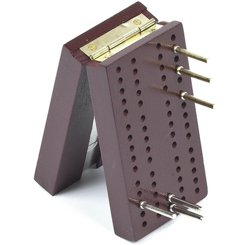 Travel Pocket Size Wooden Cribbage Board