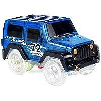 Umiwe マジックトラックカー ライトアップ 交換用 おもちゃの車 LED3個 2色ライト ダブルフラッシュ トラックカー 暗闇で光る レーシングトラック ほとんどのマジックトラック、男の子、女の子に対応 ブルー 6242340194399