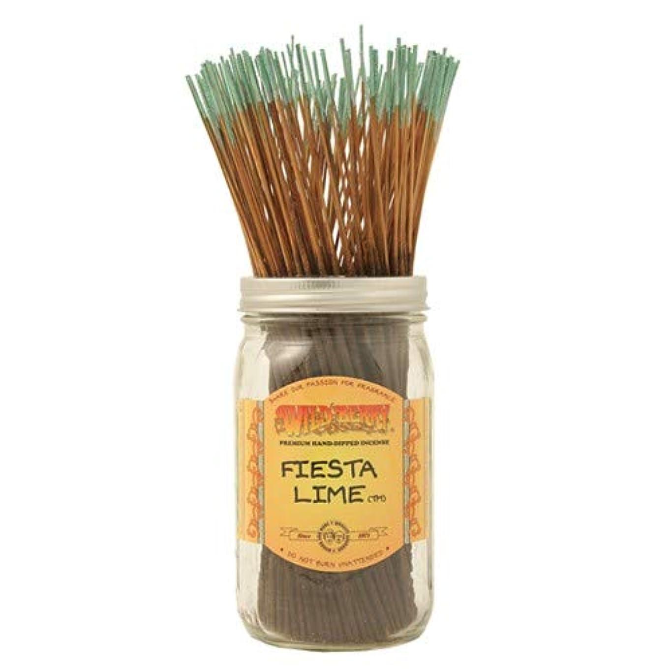 光沢のある協力する筋Fiesta Lime - 100 Wildberry Incense Sticks by Wild Berry