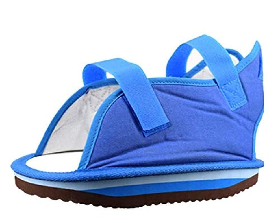 調節可能なストラップ付きキャンバスキャストサンダル - 男性と女性のための術後靴 - 足の骨折/足の骨折のためのウォーキングシューズ (Size : M)