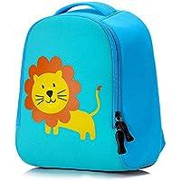 CXQ かわいい子供の学校のバッグ幼稚園1?4歳の少年少女黄色のライオンは、肩の紛失防止バックパック (Size : M)