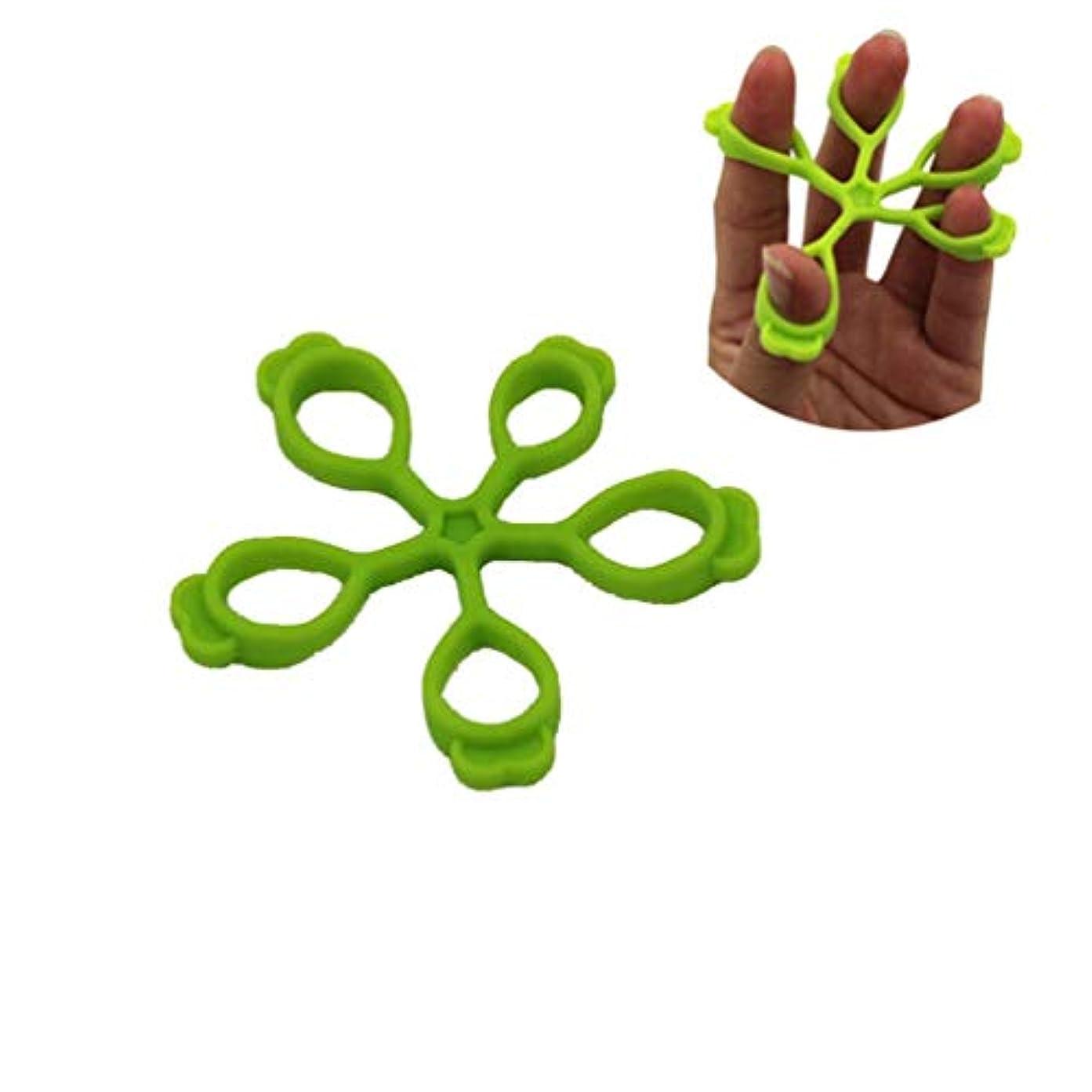 レトルト慈善靴HLX-0115パターンシリコンフィンガートレーナー - グリーン