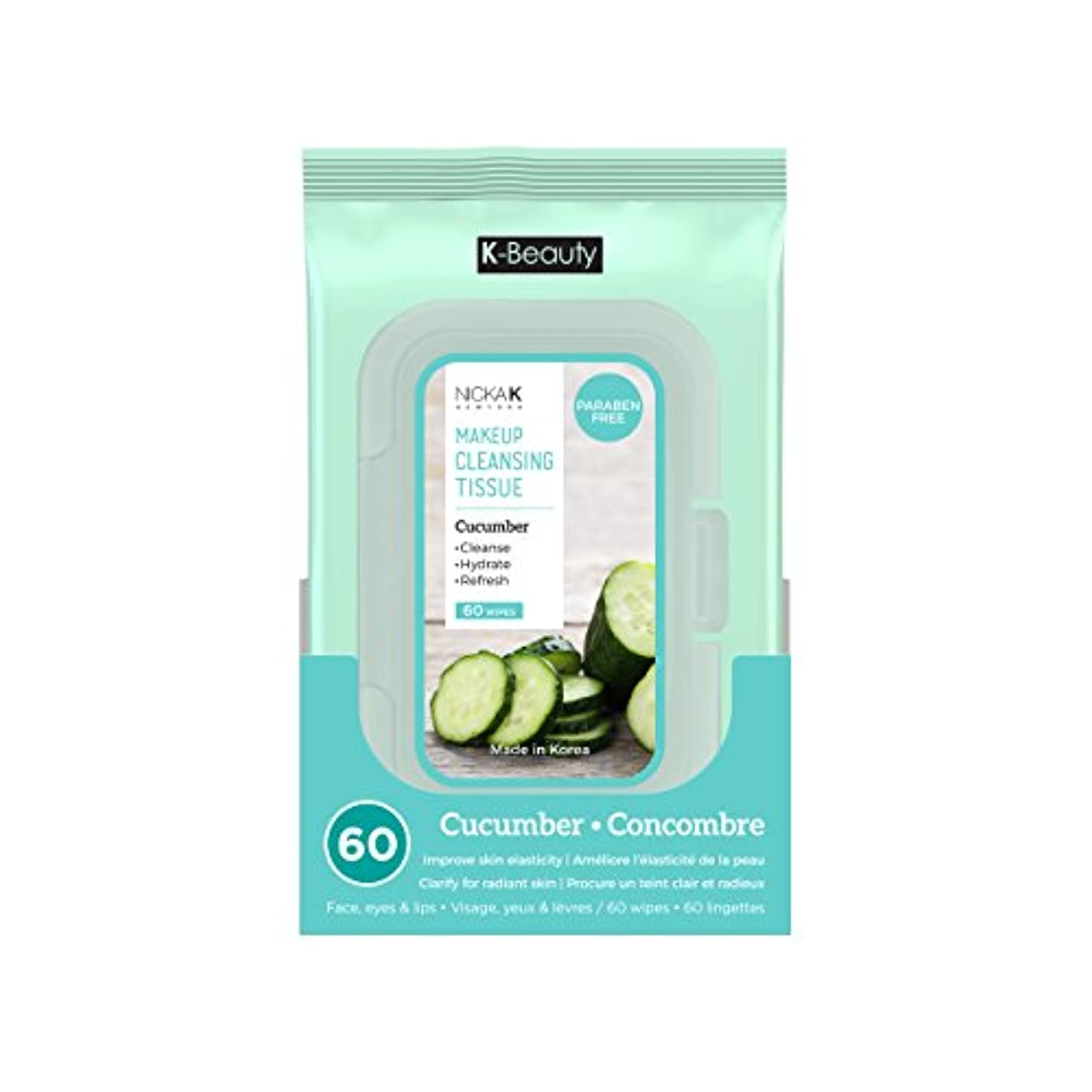 NICKA K Make Up Cleansing Tissue - Cucumber (並行輸入品)