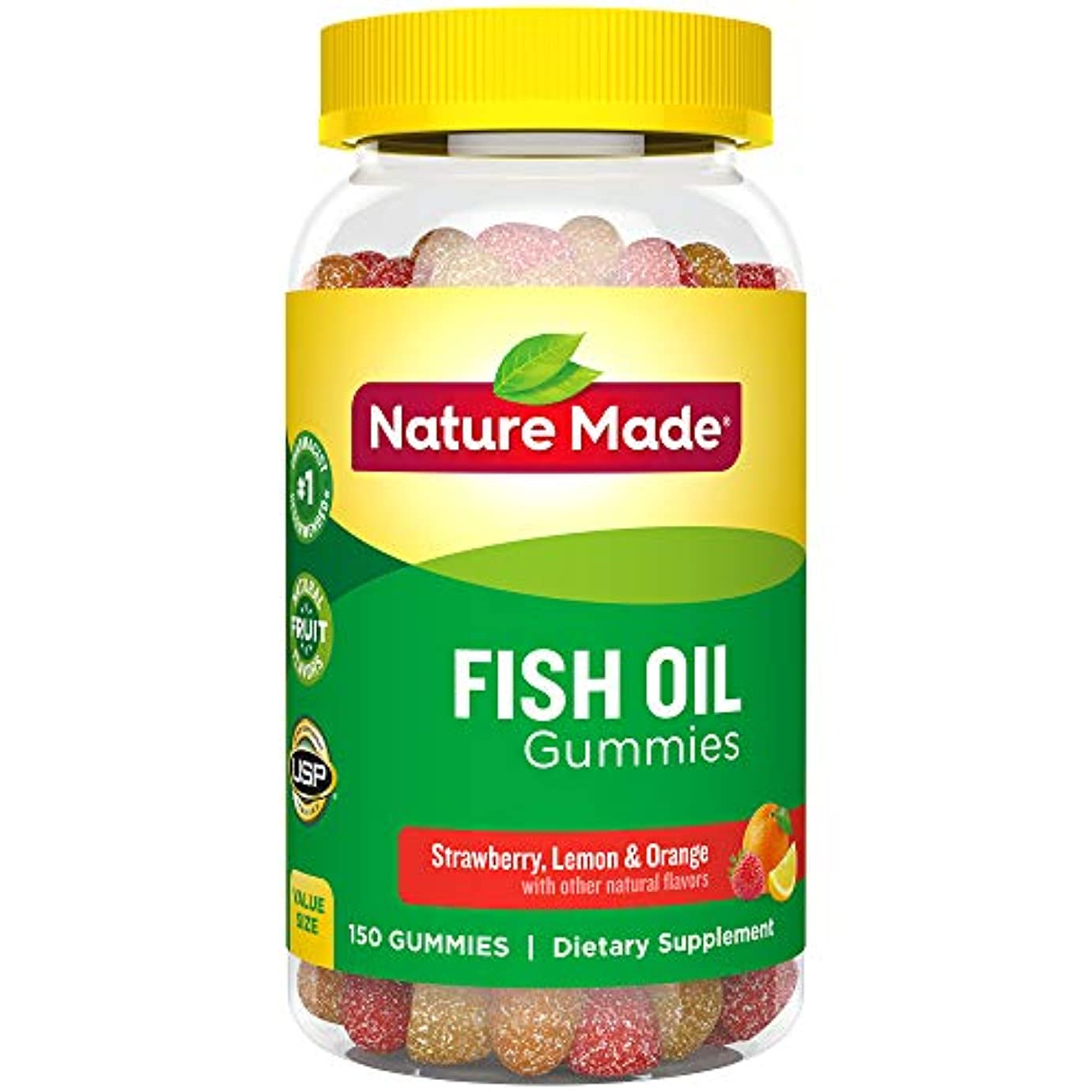 ずっとラフ睡眠耐久Nature Made Fish Oil Adult Gummies Nutritional Supplements, Value Size, 150 Count 海外直送品