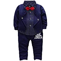 taitaibaby Kids Boys Clothing Sets Shirt Vest and Pants Clothes Suit for 2 to 5 Age Little Boy