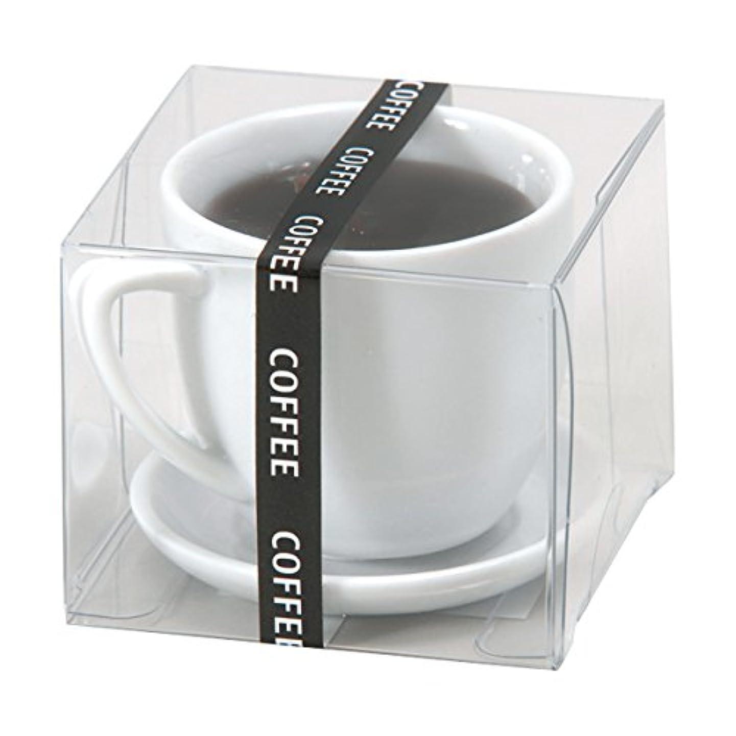 交換可能プロット満たすホットコーヒー ローソク