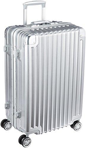 [トライデント] スーツケース ハードフレームケース アルミ調 シフレ 1年保証 保証付 66L 60cm 4.5kg TRI1030-60 シルバー シルバー