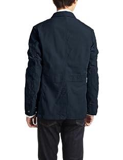 Herdmans Cotton Linen Dungaree Work Jacket 3225-186-1628: Navy