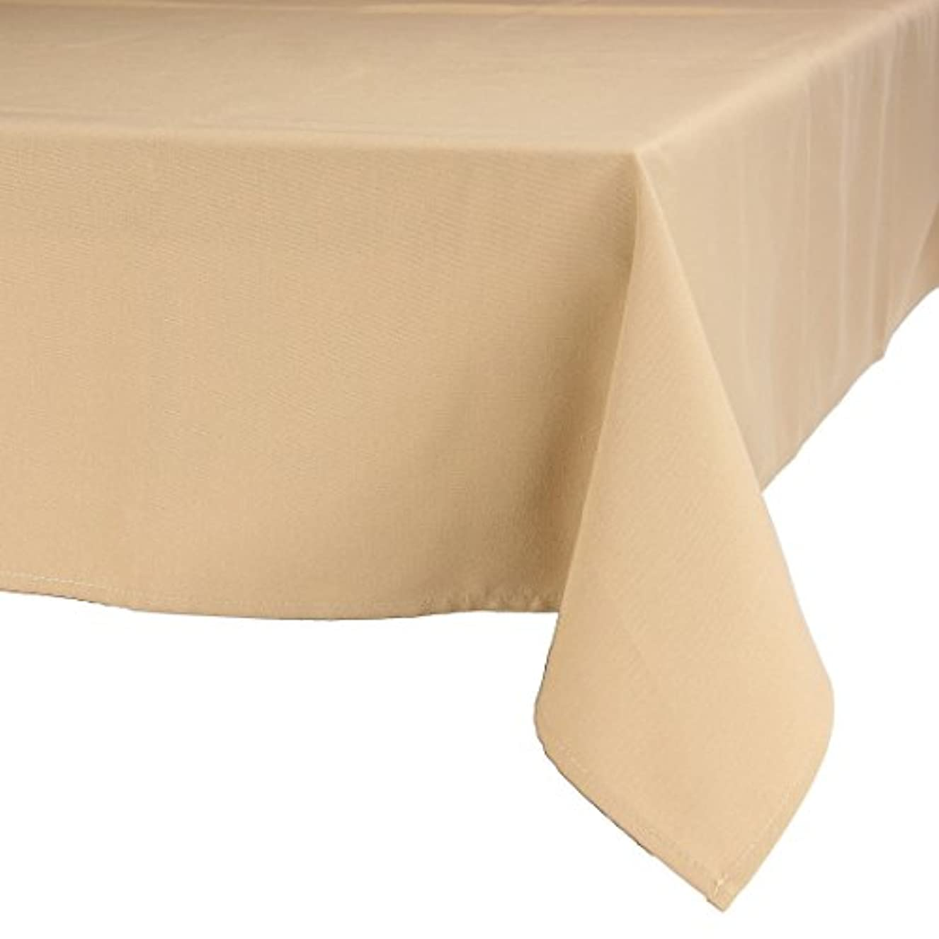 パイ理想的免疫するMAJEST(マジェスト) テーブルクロス 長方形150cmx260cm 布地 サンドルウッド 無地 繋なし 吸水タイプ