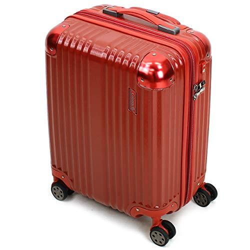 [Coleman(コールマン)] スーツケース 38+8L 46cm 2.9kg 機内持ち込み 14-59 (ヘアラインレッド)