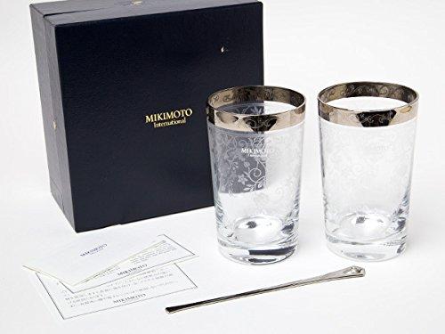 MIKIMOTO ミキモトインターナショナル ペアタンブラー&パール付きマドラーセット