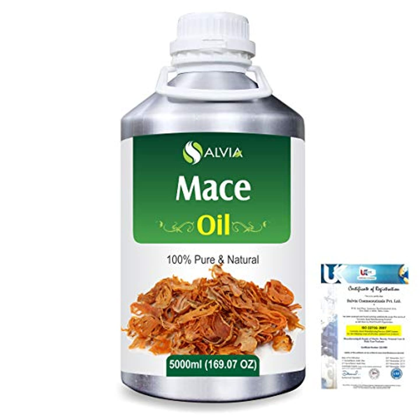 シティできるリテラシーMace (Myristica fragrans) 100% Natural Pure Essential Oil 5000ml/169fl.oz.