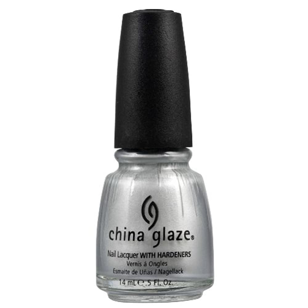 ブラジャー幼児セレナCHINA GLAZE Nail Lacquer with Nail Hardner 2 - Platinum Silver (並行輸入品)