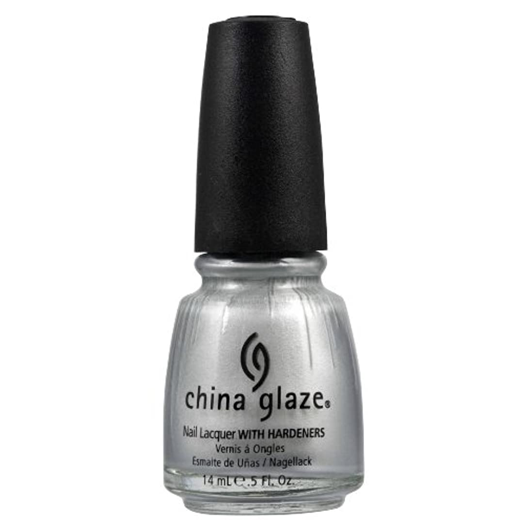 有毒フレキシブルテレビCHINA GLAZE Nail Lacquer with Nail Hardner 2 - Platinum Silver (並行輸入品)
