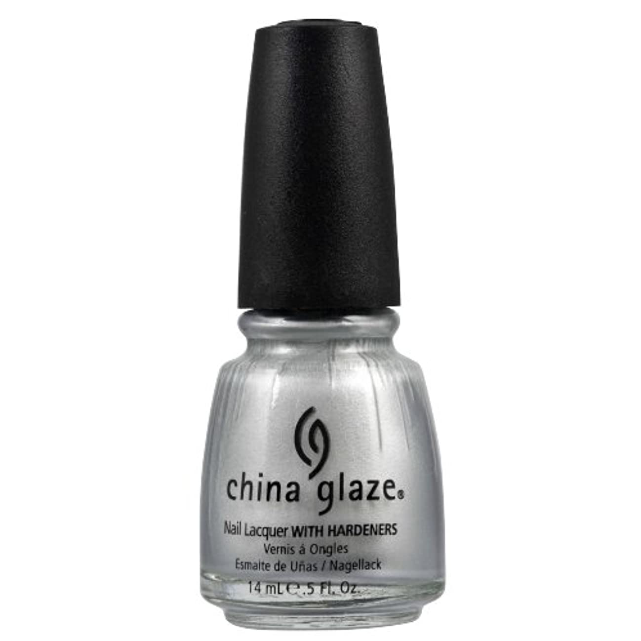 足音評論家ストライクCHINA GLAZE Nail Lacquer with Nail Hardner 2 - Platinum Silver (並行輸入品)