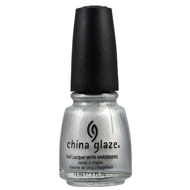 一緒に歯科医フライカイトCHINA GLAZE Nail Lacquer with Nail Hardner 2 - Platinum Silver (並行輸入品)