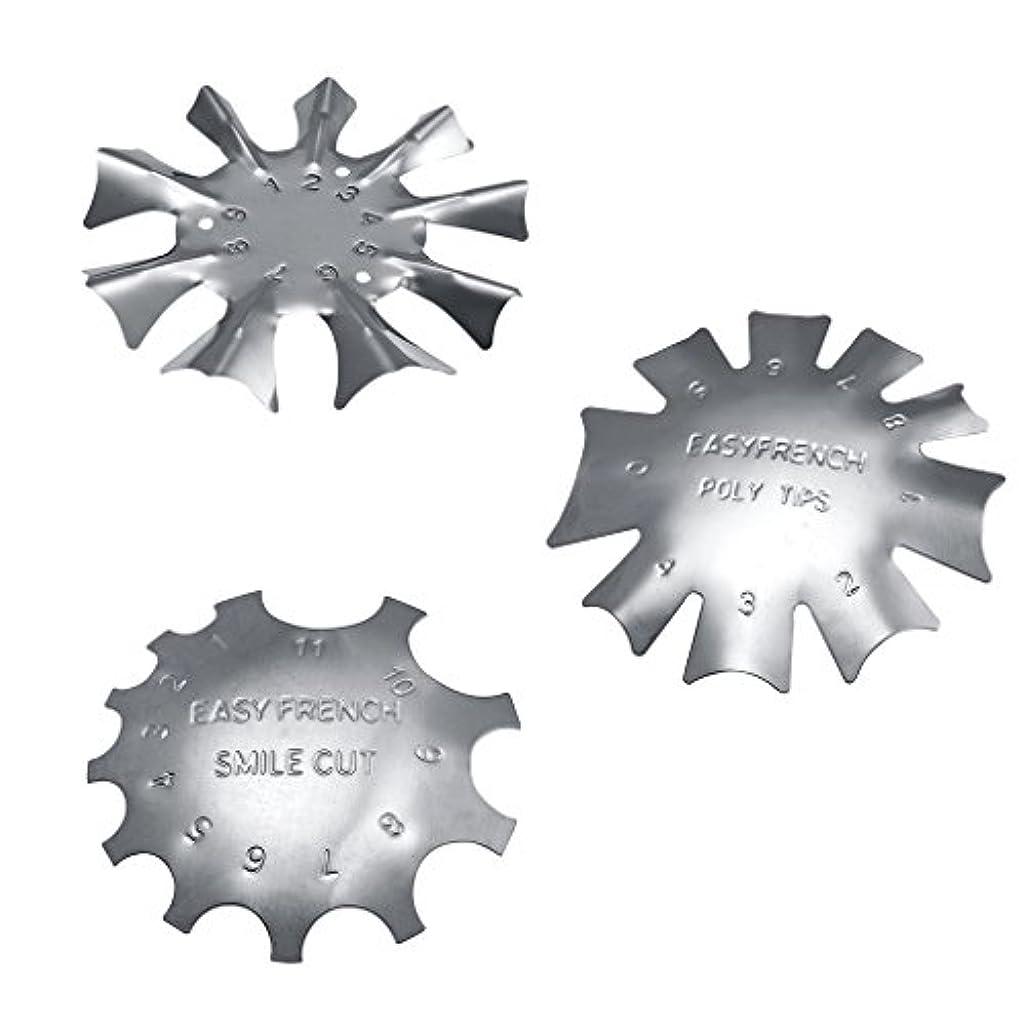 星肉腫浴室Sharplace フランス風 ネイルガイドツール 3タイプセット