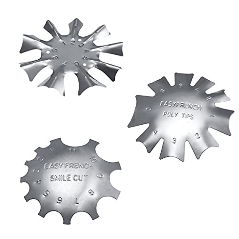 Sharplace フランス風 ネイルガイドツール 3タイプセット