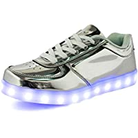 IGxx Flashing LED Light Up Shoes LED Sneaker Glowing Luminous USB Charging Unisex for Men Women Kids